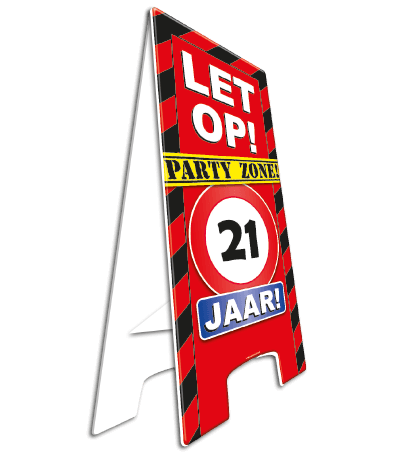 WARNING SIGN 18 JAAR PARTY ZONE