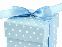 SKY BLUE POLKA DOTTED GIFT BOX