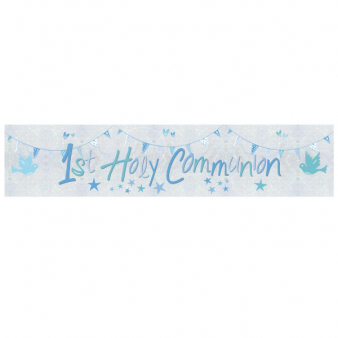 FOIL BANNER 1ST COMMUNION